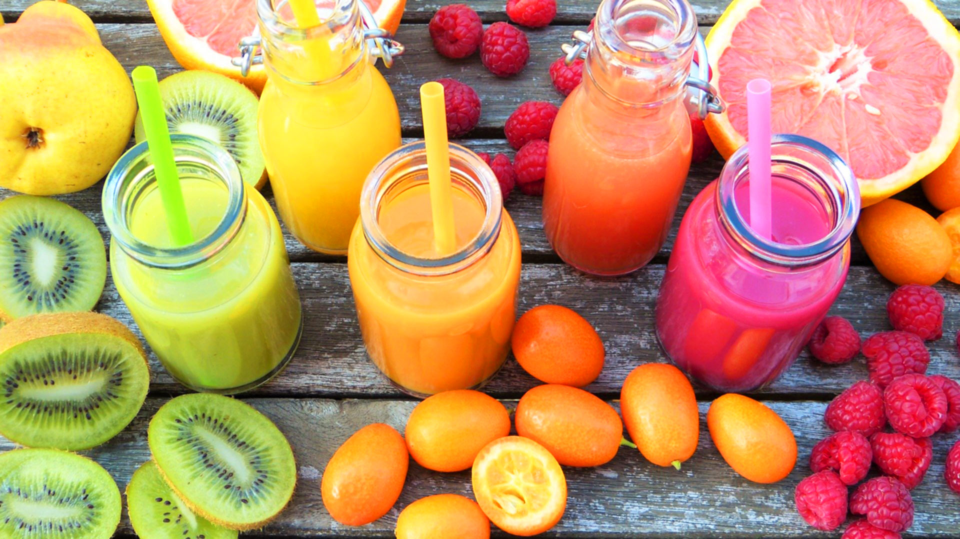 Photo smoothie fruits